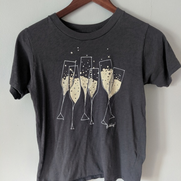 J. Crew Tops - J. Crew gray Bubbly! T-shirt size XS